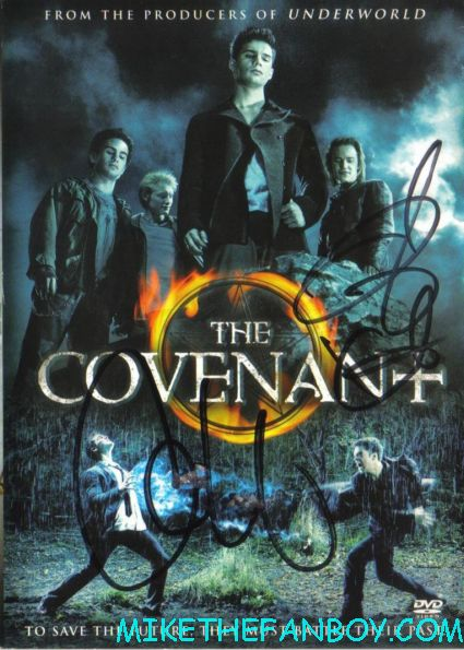 covenant signed dvd cover autograph taylor kitsch rare shirtless muscle bound frat boy witches