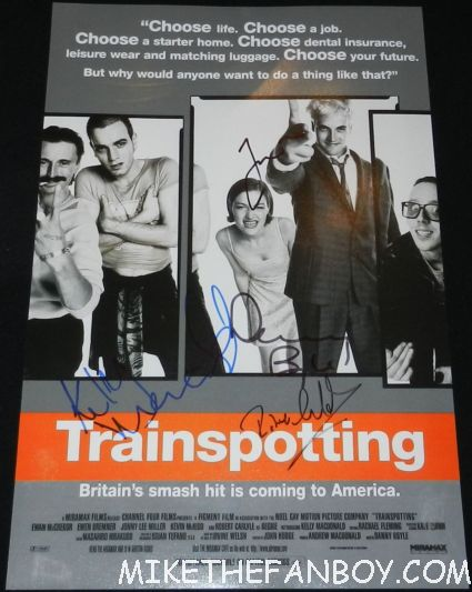 kelly macdonald jonny lee miller robert carlyle danny boyle signed autograph trainspotting rare promo mini movie poster