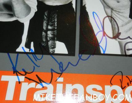kelly macdonald jonny lee miller robert carlyle danny boyle signed autograph trainspotting rare promo mini movie poster