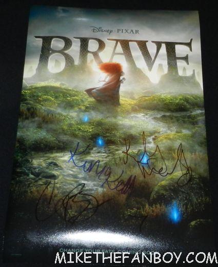 brave rare promo mini movie poster signed autograph kelly macdonald kevin mckidd craig ferguson