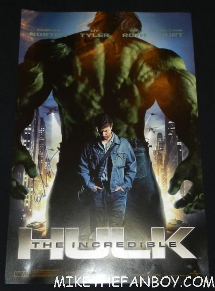 edward norton signed autograph the incredible hulk rare promo mini movie poster signature hot rare