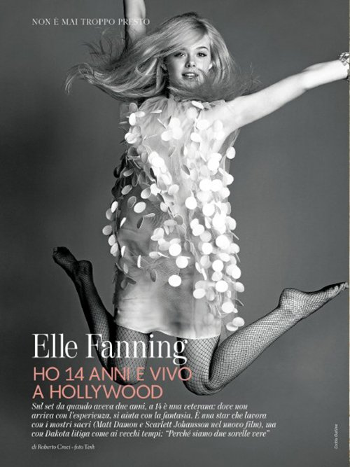 elle-fanning covers the July 2012 issue of Gioia magazine hot photo shoot promo fanning sister rare promo