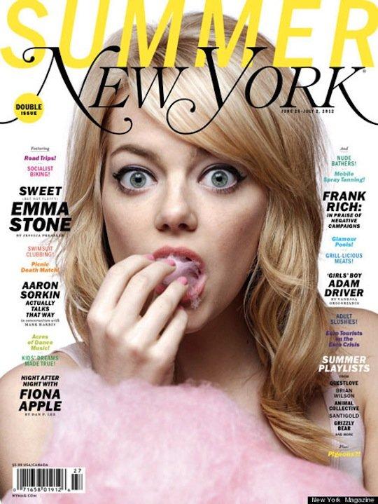 emma-stone-ny-mag-cover- emma stone new york magazine cover cotton candy cutie hot sexy amazing spider man superbad star rare