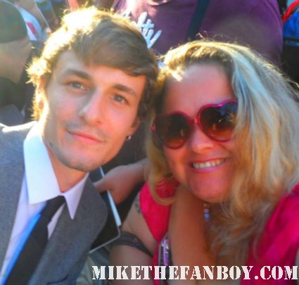 gilles matthey  michael mcmillion tara buck posing for a fan photo at the true blood season 5 world movie premiere in hollywood rare hot sexy vampire