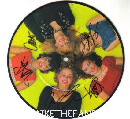 go-go's signed autograph automatic picture disc promo belinda carlisle jane weidlin kathy valentine Gina shock