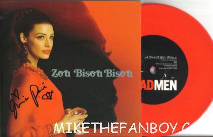 "jessica pare signed bisou Bisou red vinyl rare record store day promo 7"" vinyl mad men promo theme"