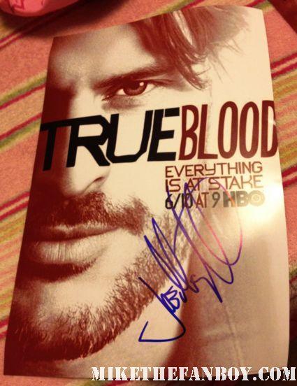 Joe Manganiello signed autograph true blood season 5 promo individual poster rare hot sexy werewolf