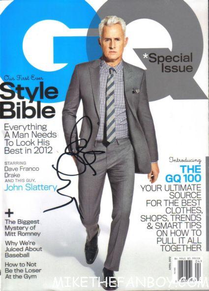 john slattery signed gq magazine mad men star rare promo magazine cover autograph rare promo hot sexy style bible