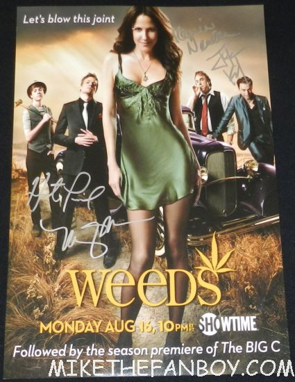 weeds rare season 6 promo mini poster signed autograph mary louise parker hunter parrish justin kirk kevin nealon rare sexy promo
