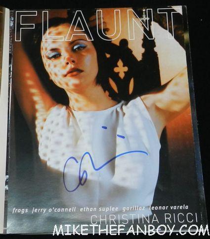 christina ricci signed autograph 2001 flaunt magazine rare promo hot sexy adams family star rare promo pumpkin