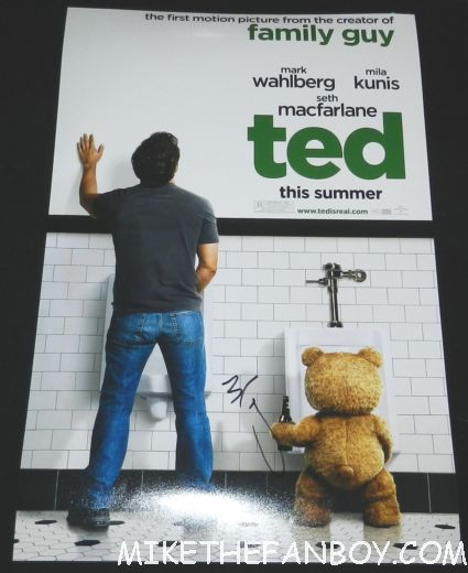 marky mark wahlberg signed autograph ted rare promo mini poster promo rare hot sexy seth macfarlane promo mini poster