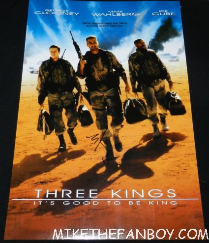 mark wahlberg signed autograph three kings rare promo mini movie poster promo hot sexy rare movie poster
