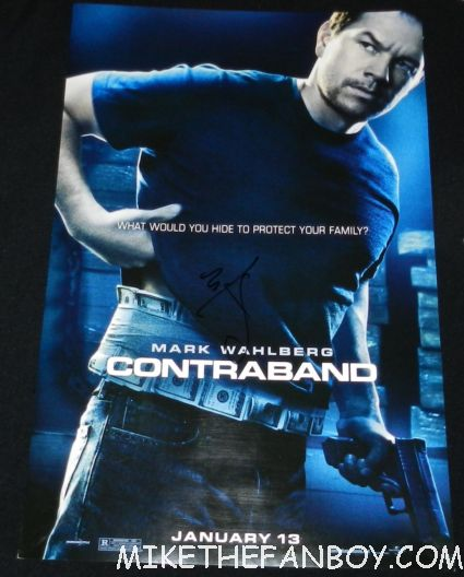 mark wahlberg signed autograph contraband rare promo mini movie poster promo hot sexy rare movie poster