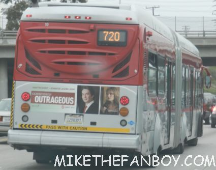 weeds martin short emmy award sign on the back of a los angeles city bus promoting martin short and jennifer jason leigh for an emmy award