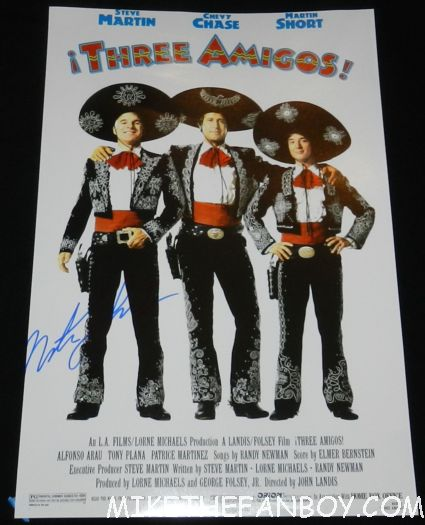 martin short signed autograph three amigos promo mini poster promo chevy chase martin short signing autographs for fans after the jimmy kimmel show in hollywood three amigos three fugitives