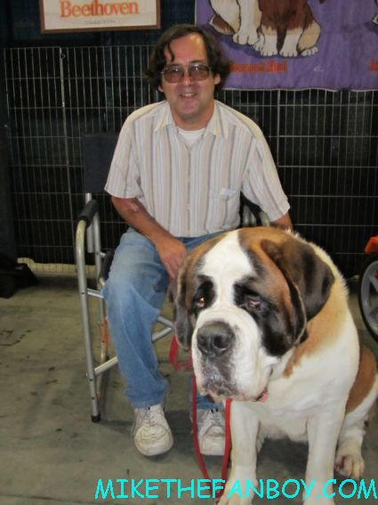 OTG John from Mike The Fanboy with Beetoven the St. Bernard at the Pet Expo 2012