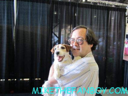 OTG John from Mike The Fanboy with Uggie the canine star of The Artist at the Pet Expo 2012
