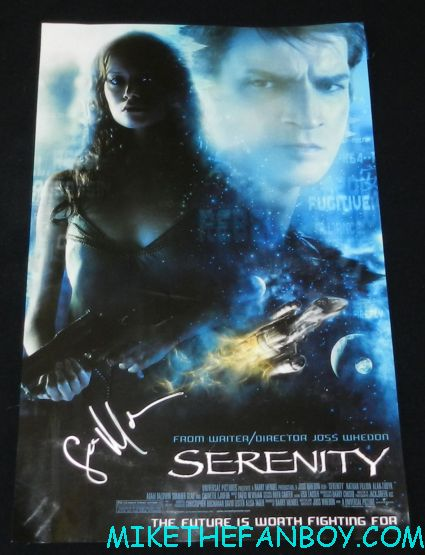 sean maher signed autograph serenity promo mini movie poster hot sexy rare promo joss whedon classic