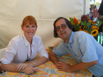 John with 190's star Molly Ringwald from her book signing at the los angeles times festival of books