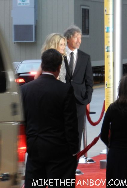 michelle pfeiffer leaving  the world premiere of people like us world movie premiere at the la film festival in downtown los angeles michelle pfeiffer chris pine elizabeth banks