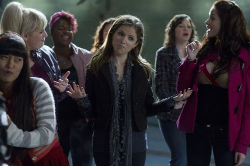 anna kendrick and rebel wilson in pitch perfect rare promo still photo up in the air hot sexy glee promo still hot sexy anna kendrick