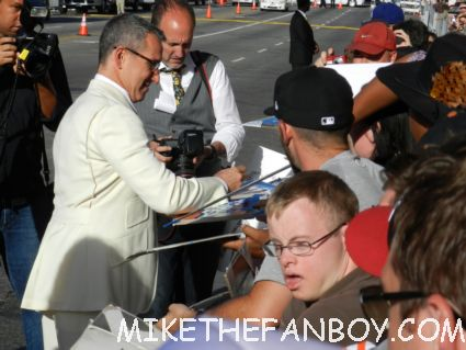 rock of ages director adam shankman signing autographs for fans looking hot and sexy at the rock of ages world movie premiere