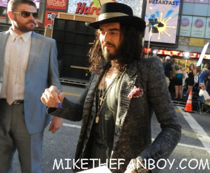 sexy russell brand signing autographs at the rock of ages world movie premiere in hollywood rare hot forgetting sarah marshall