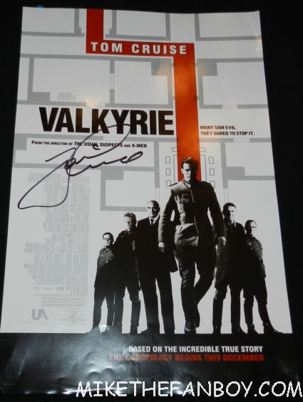 tom cruise signed autograph valkyrie mini promo mini poster hot sexy tom cruise signing autographs for fans looking hot and sexy at the rock of ages world movie premiere