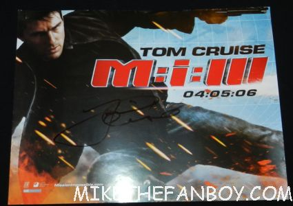 tom cruise signed autograph mission impossible uk quad mini promo mini poster hot sexy tom cruise signing autographs for fans looking hot and sexy at the rock of ages world movie premiere