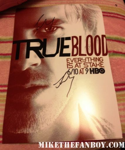 sam trammell signed autograph true blood season 5 promo poster photograh from the true blood season 5 premiere