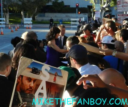 Demian Bichir and mary louise parker from Weeds signing autographs for fans at the savages world movie premiere in westwood ca hot sexy weed star