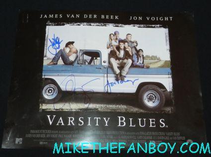 jon voight james van der beek allie lauter signed autograph varsity blues uk quad mini poster