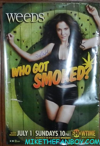 weeds season 8 promo one sheet movie poster mary louise parker who got smoked signed autograph promo poster