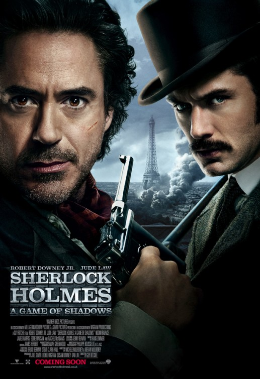 sherlock_holmes_a_game_of_shadows rare promo one sheet movie poster promo robert downey jr jude law