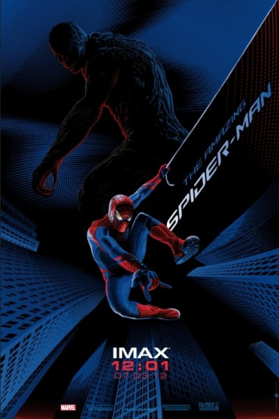 the-amazing-spider-man-poster-imax andrew garfield emma stone rare promo movie poster promo hot sexy rare hot movie poster spidey spider man