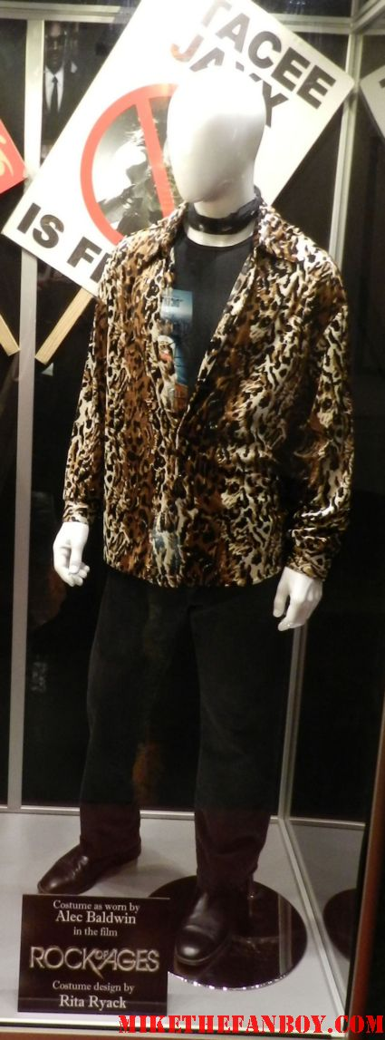alec baldwin's props and costumes from rock of ages as Dennis Dupree tom cruise film stacey jaxx rare promo