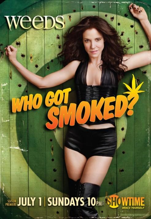 weeds season 8 promo poster mary louise parker is nancy botwin rare hot sexy who got smoked poster