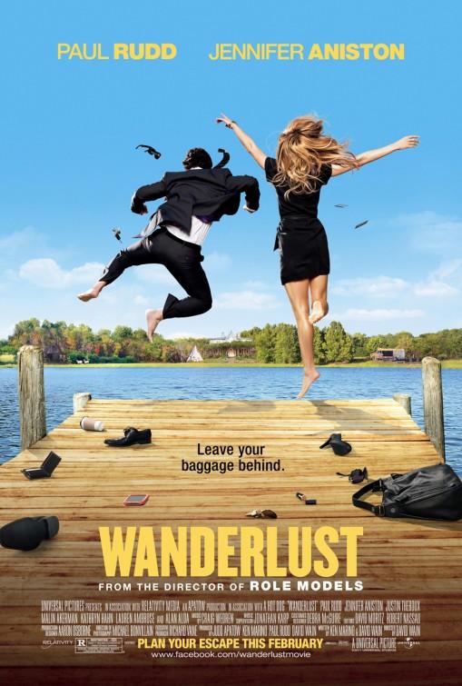 wanderlust promo movie poster promo one sheet jennifer aniston paul rudd rare promo hot sexy comedy