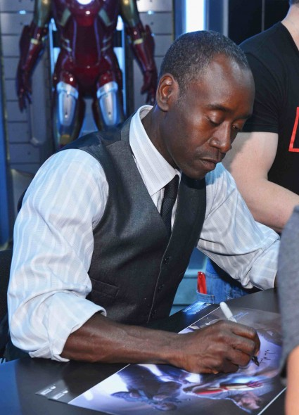 Don Cheadle and Shane Black  signing autographs for fans robert downey jr and the iron man kids sdcc 2012 Comic-Con International 2012 - Marvel Studios Panels