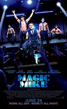 Magic Mike rare promo movie poster promo hot sexy shirtless channing tatum Joe Manganiello matt bomer