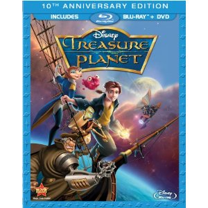 walt disney treasure planet blu ray dvd cover art promo Treasure Planet  press promo still jim hawkins walt disney blu ray dvd review promo hot rare dancer joseph gordon levitt
