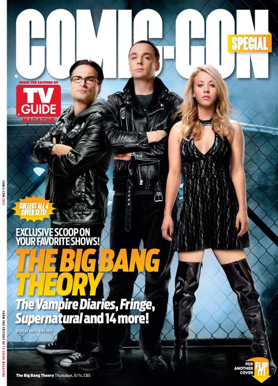 The big bang theory rare tv guide san diego comic con limited edition magazine cover rare promo johnny galecki kaley cuoco jim parsons