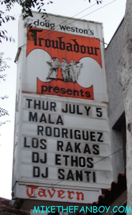 Mala Rodriguez Troubador July 5, 2012 marquee billboard live in concert review promo sign billboard marquee