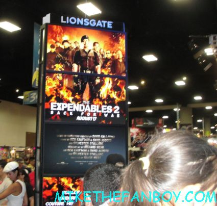 the lionsgate booth at san diego comic con 2012 expendables 2 rare promo comic con 2012 rare the lines and the crowds of chaos cosplayers rare