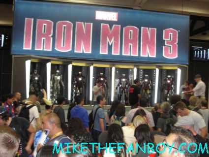 the marvel booth at san diego comic con 2012 iron man 3 suits on display rare sdcc 2012