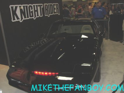 KITT the knight rider car on display at san diego comic con 2012 rare promo prop costume hot