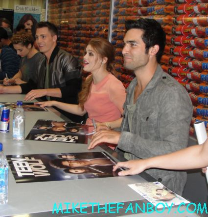 the hot and sexy cast of teen wolf signing autographs at the fox booth during san diego comic con 2012 sdcc rare promo hot chest tyler posey