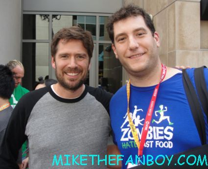 mike the fanboy with angel star alexis densiof at san diego comic con 2012 sdcc 2012 buffy the vampire slayer wesley