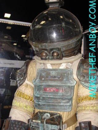 rare alien prop and costume on display at the prop store of London rare space suit rare