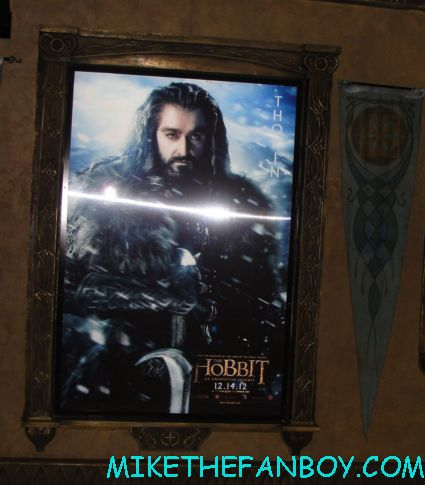 the hobbit lenticular poster display at the warner bros booth at san diego comic con 2012 rare promo hot martin freeman